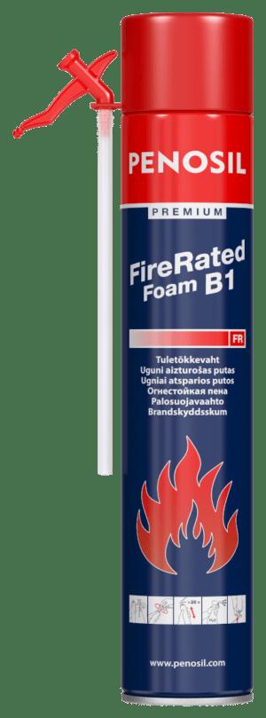 Изоляционная пена PENOSIL Premium Fire Rated с трубочкой-аппликатором для огнезащитных изоляционных работ.