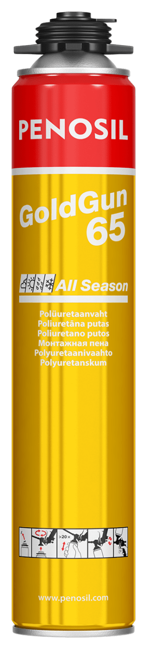 Penosil GoldGun 65 Plus All Season vahva ja nopea polyuretaanivaahto