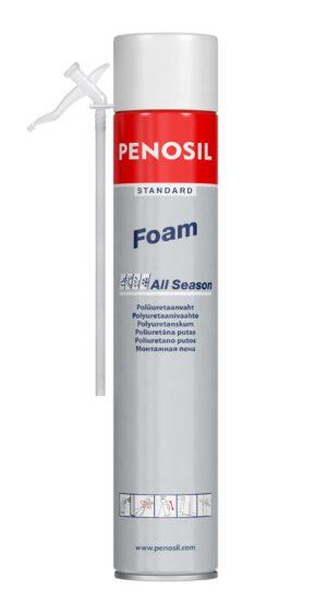 Pillivaahto PENOSIL Standard Foam All Season, joka sopii käyttöön eri sääoloissa.