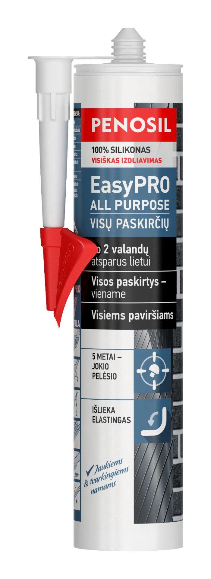 Penosil EasyPRO All Purpose universalus statybinis silikonas visiems darbams