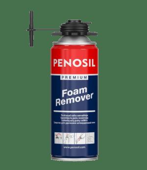 PENOSIL Premium Foam Remover sacietējušu celtniecības putu izšķīdināšanai.