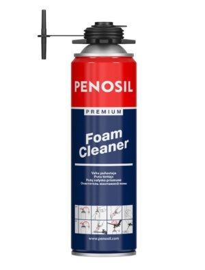 PENOSIL Premium Foam Cleaner nesacietējušu celtniecības putu noņemšanai.