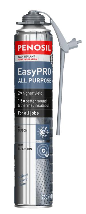 Foam sealant with unique applicator for sealing all types of joints.