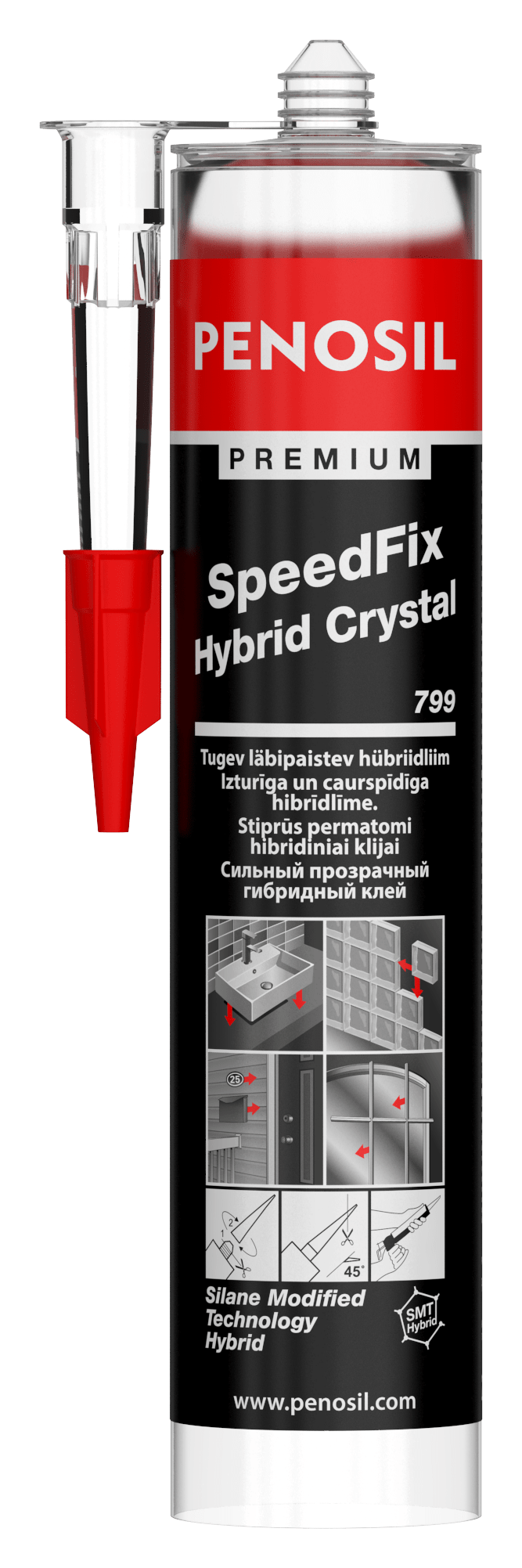 PENOSIL Premium SpeedFix Hybrid Crystal 799 multipurpose eco-friendly adhesive