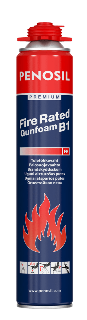 Penosil Premium Fire Rated Gunfoam is low post expansion and fast curing