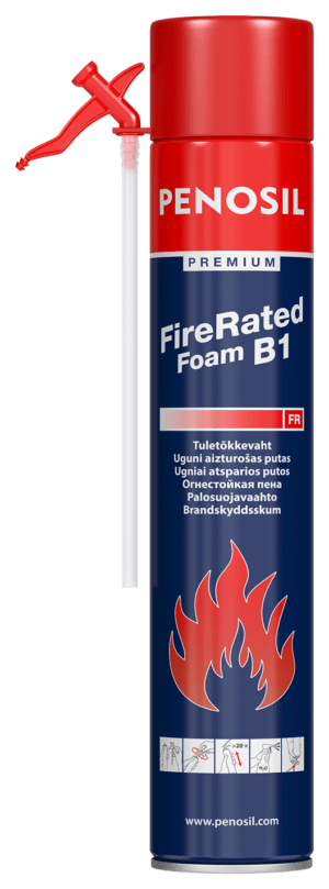 PENOSIL Premium Fire Rated straw foam for fire protected insulation works.
