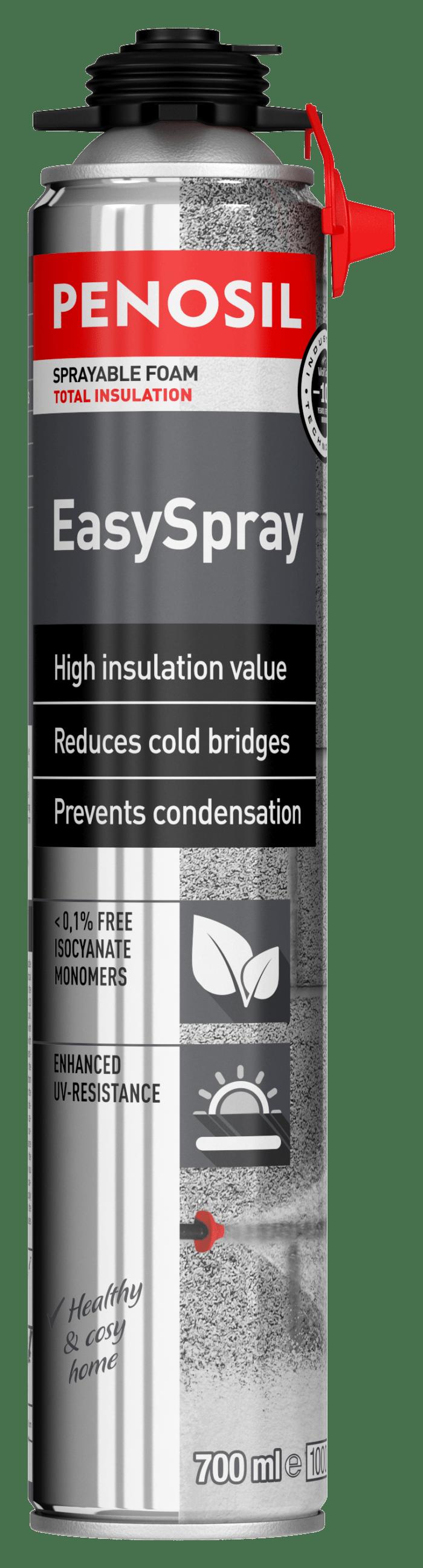 Penosil EasySpray foam sealant with unique spray applicator - EasyPRO