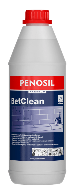 PENOSIL Premium BetClean for removing cement-containing stains from stone surfaces, concrete and ceramic tiles.