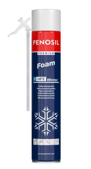 Изоляционная пена PENOSIL Premium Foam Winter с трубочкой-аппликатором для работ в зимнее время.