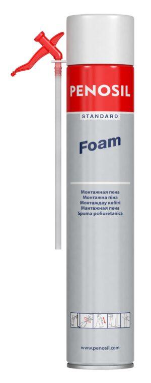 Изоляционная пена PENOSIL Standard Foam с трубочкой-аппликатором для работ небольшого объема.